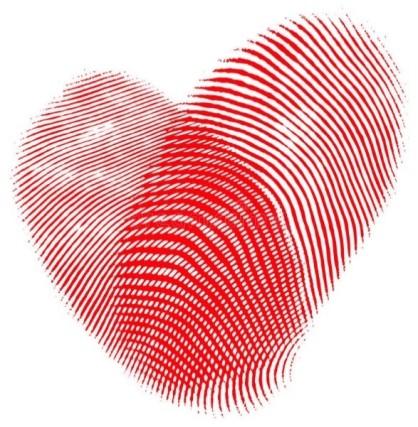 corazon huella