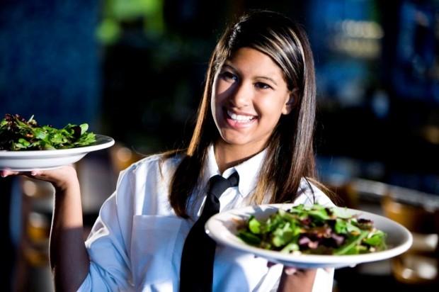 Mujer restaurante